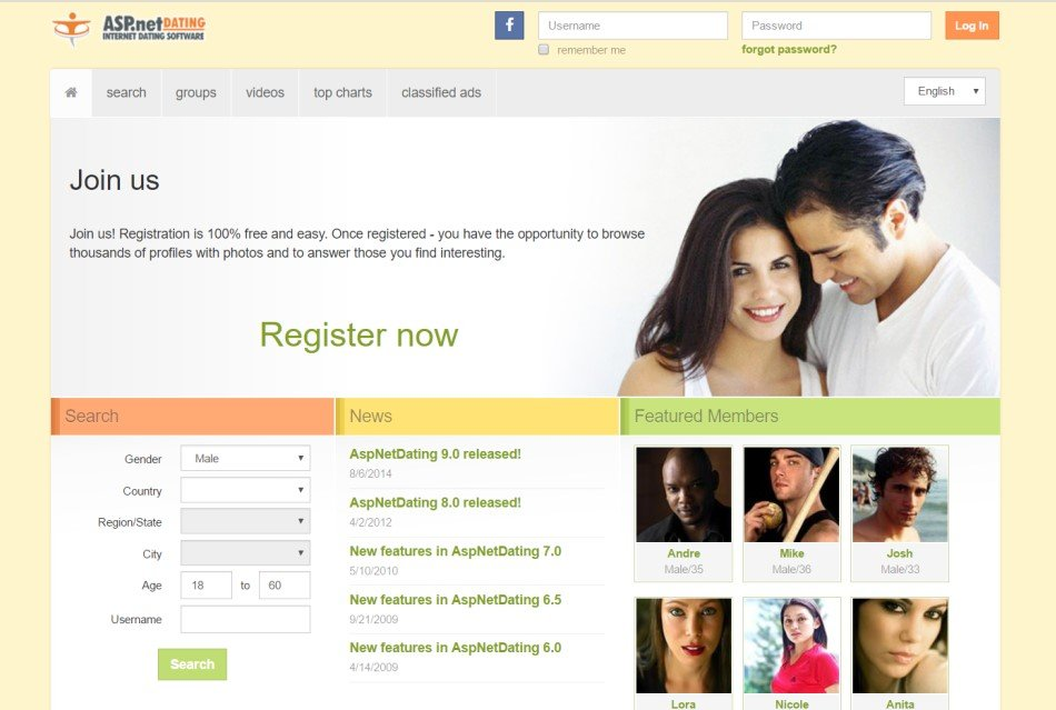 Asp.net dating software profile for dating website examples